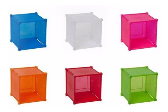 Cajon De Plastico Guarda Todo Desarmarble Cubo Colores 1 Uni