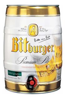 Oferta! Barril Cerveza Bitburger 5l Importada Belgrano Envio