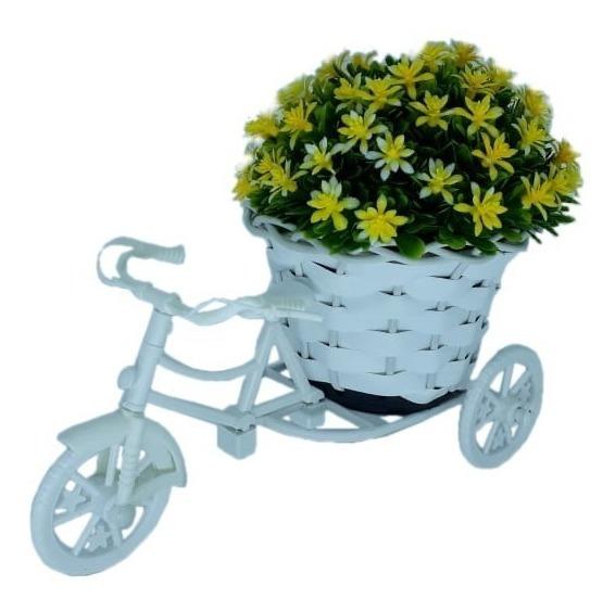 Bicicleta Miniatura Com Arranjo De Flores De Mesa Decoração