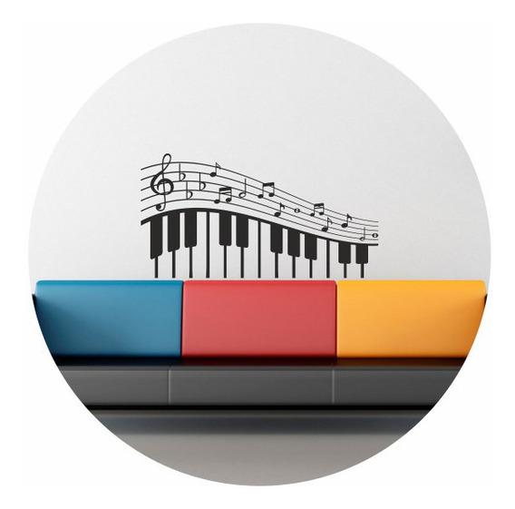 Vinilo Decorativo Piano Notas Musical Pentagrama 1,10mtx59cm