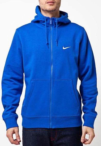 Jaqueta Moletom Nike Azul C/ Zíper 611456 Masculina Original