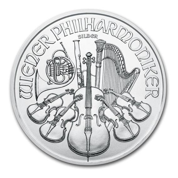 Onza De Plata Fina 999 Austria 1,50 Euro Filarmónica Sc 2020
