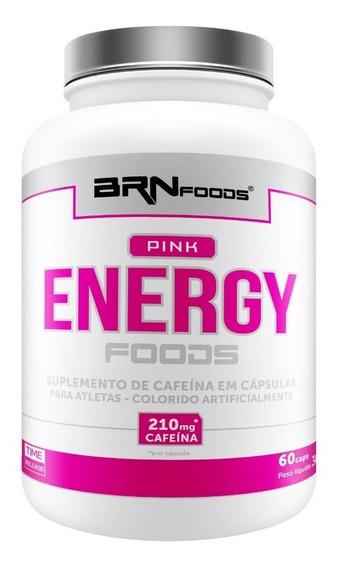 Pink Energy Foods 60 Cápsulas - Brn Foods - 3x Frete Grátis!