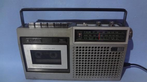 Rádio Gravador National Panasonic Rq- 443 Fws
