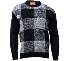 Sweater Bross London Cuadros Gris