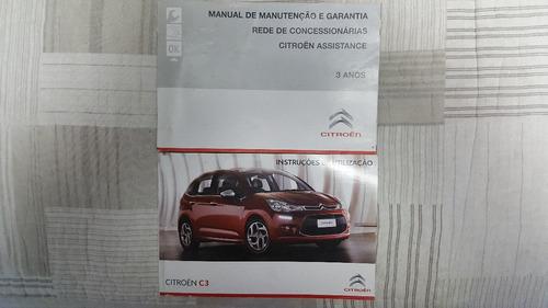 Manual Propriet U00e1rio Citroen C3 2012 E 2013