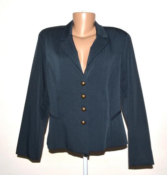 Conjunto Blazer E Calça Terninho Feminino Tam 44 Azul Escuro