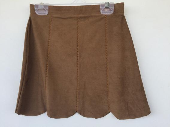 Saia Curta Infantil Fuzarka Girls Collection Marrom Tam.12a