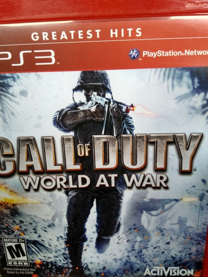 Call Of Duty World At War Ps3 Original , Leia A Descriçao