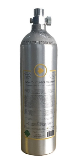 Cilindro Alumínio Co2 Soma 1l Reator Plantado E Marinho