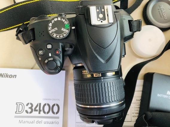 Nikon D3400 Completa + Case
