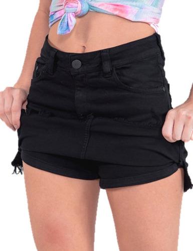 Saia Short Cintura Alta Shorts Saia Revanche Original Jeans