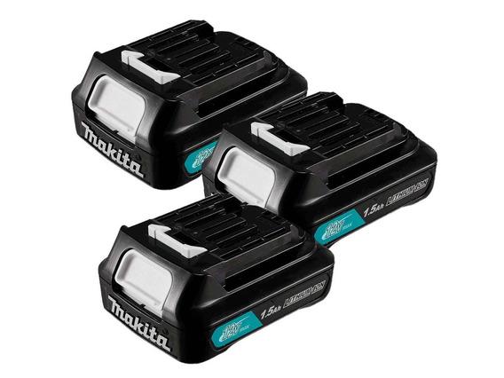 Kit 3 Baterias Lítio 12v 1.5ah Bl1016 197413-5 Makita