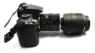 Tubo De Extensión Macro 5 Cuerpos Para Cámaras Nikon + Curso