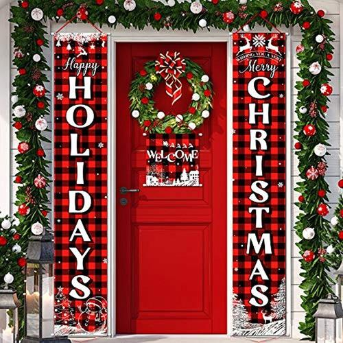 Imagen 1 de 7 de Decoraciones Navideñas, Color Rojo-blanco, Marca Pyle