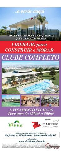 Loteamento Novo Em Jacareí Sp Pronto Para Construir - 2648