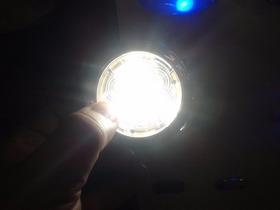 Luminária Utilitária Náutic/led Branca/corpo Abs Dourado/12v