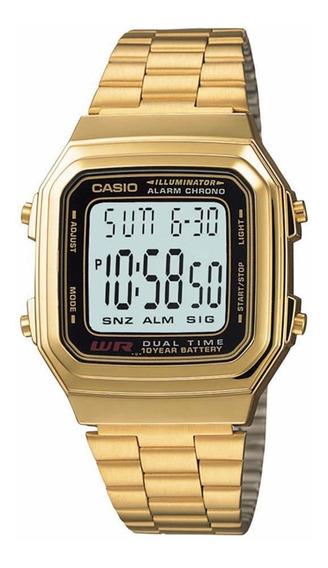 Relógio Casio Vintage A178wga-1adf Dourado