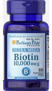 Biotina 10000mcg 100 Caps Softgels Puritan