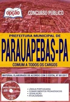 Apostila Prefeitura De Parauapebas 2018 Todos Os Cargos