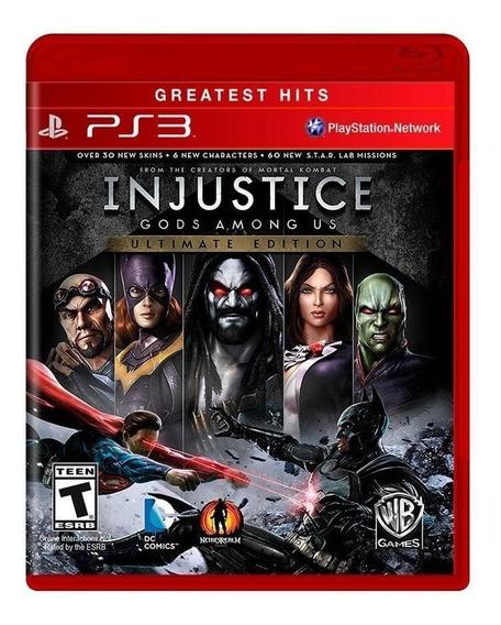 Injustice Gods Among Us Ultimate Edition - Ps3 - Novo