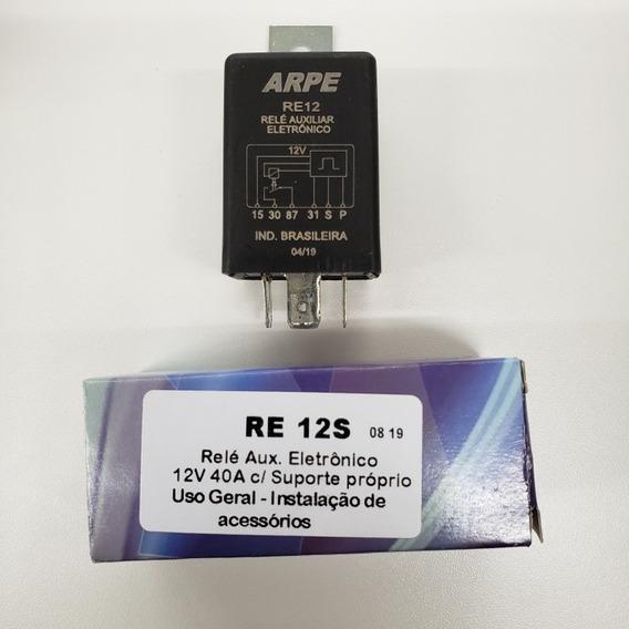 Rele De Pulso Relé Eletrônico Liga/desl Por Toque 12v Re12s