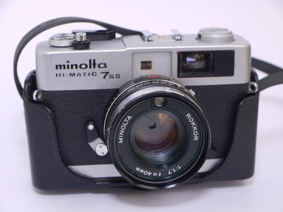 Câmera Hi-matic Minolta 7sii Rangefinder Rokkor 40 1.7 Lomo
