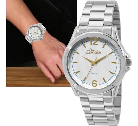 Relógio Condor Masculino Prateado Original Co2035kot/3k