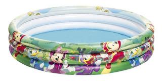 Alberca Inflable Bestway 3 Aros Mickey Mouse Para Niños