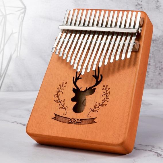 17 Chaves Kalimba Instrumento Polegar Piano Dedo Piano