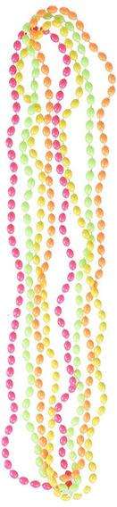 24 Collares Neon Surtido Cuentas Perlas Bolas Fiesta Beads