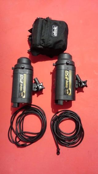 Conjunto Atek 250 + 250 + 1 Bateria + Bolsa + Cabos