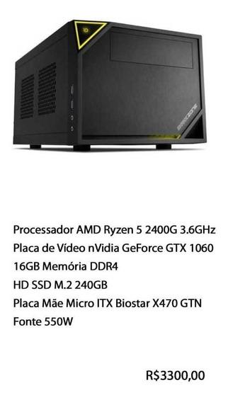 Computador Gamer Pc Amd Ryzen 5 2400g + Nvidia Geforce 1060