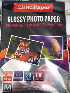 Resma Papel Fotografico Glossy 180 Gr 20 Hojas