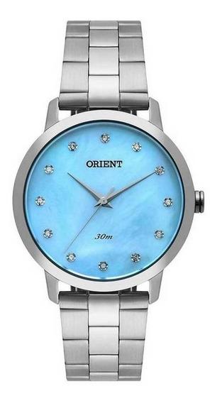 Relógio Orient 36mm Madriperola Swarovski Fbss0071-a1sx Wr50