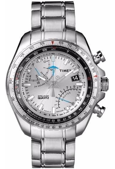 Relógio Timex Iq Aviator Cronógrafo T2p104pl/ti T2p104 Orig