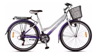Bicicleta Paseo Aurora Ona 26 Ast500 Mujer Aluminio 18 V. *