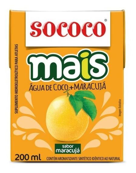 Água De Coco+maracujá Sococo 200ml - Kit Com 24 Unidades