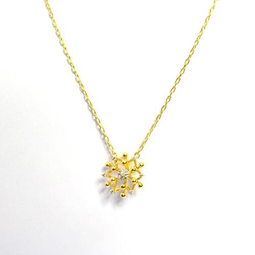 Gargantilha Flor Ouro 18k Com 13 Diamantes