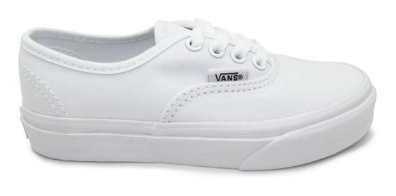 Tenis Vans Authentic Kids Vn000wwxens True White Blanco