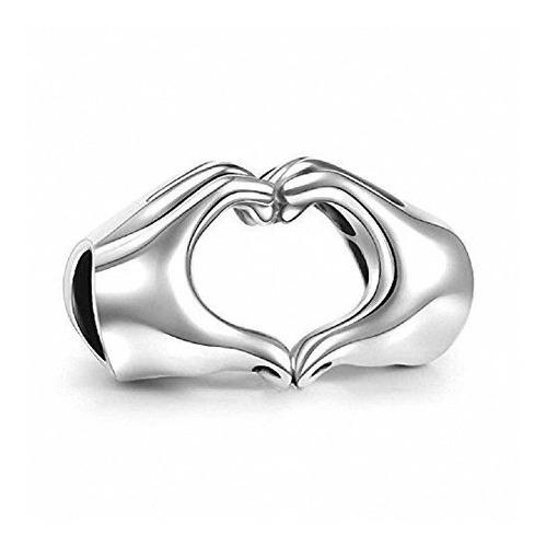 Imagen 1 de 4 de Hoobeads Corazón Del Amor Manos Del Encanto Del Grano-dedos