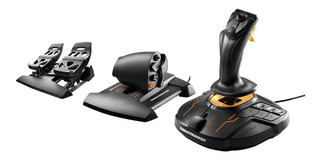 Flight Pack T16000 Fcs Thrustmaster Palanca Vuelo Pedales Pc