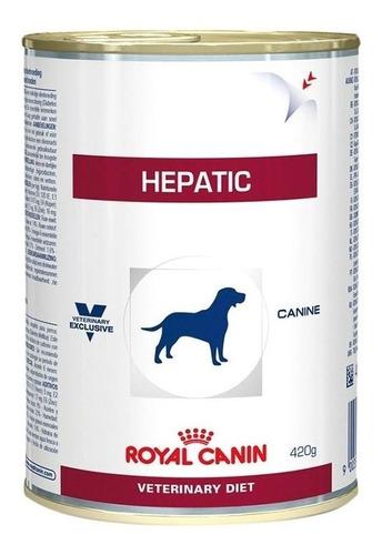 Ração Royal Canin Veterinary Diet Canine Hepatic para cachorro adulto sabor mix em lata de 420g