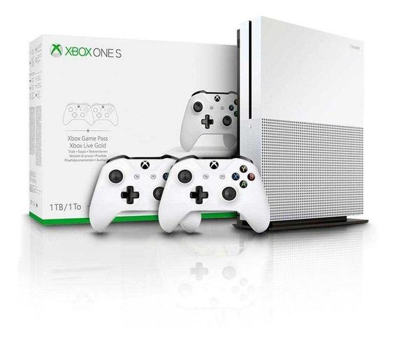 Xbox One S 1 Tb 4k C/ 2 Controles + 1 Mês Gamespass Livegold