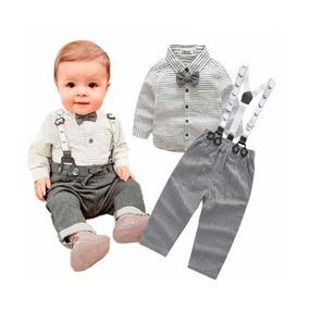 4fc51cfe Conjunto Traje Formal Bebé Niño Camisa Moño Tirante Pantalón