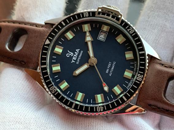 Relógio Yema Superman Mysterious Blue Automatic France