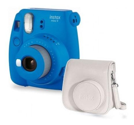Câmera Instantânea Fuji Instax Mini 9 Azul + Bolsa