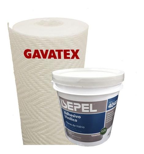 Imagen 1 de 10 de Humedad En Paredes Revestimiento Gavatex A3 25m+ Adhesivo 4k