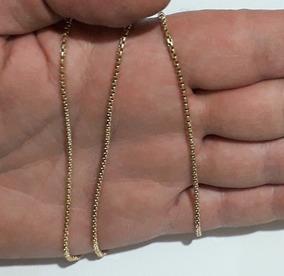 Corrente Colar 60cm Ouro 18k Veneziana Unissex