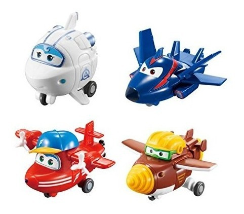 Paquete 4 Super Wings Transform-a-bots | | Flip, Todd, Agent